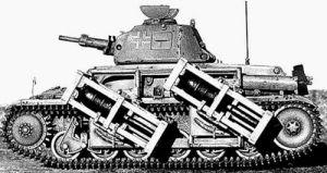 """280 мм. РС на французском трофейном """"Рено"""""""