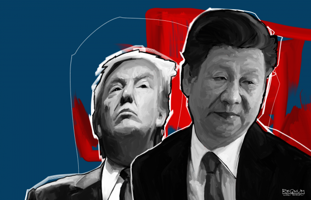 Дональд Трамп и Си Цзиньпин в роли Христофора Колумба
