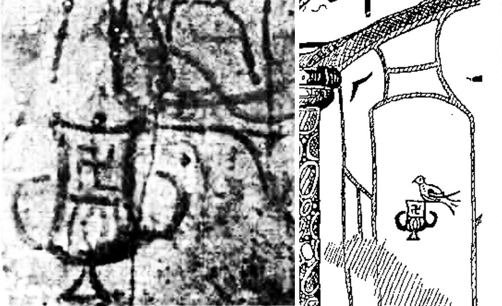 Исходное (слева) и восстановленное изображение (справа).