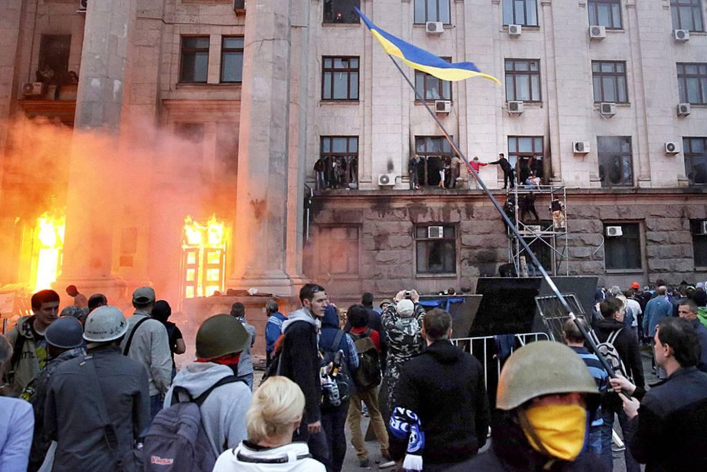 Начало Холокоста в Одессе, в итоге около 40 человек было сожжено заживо.