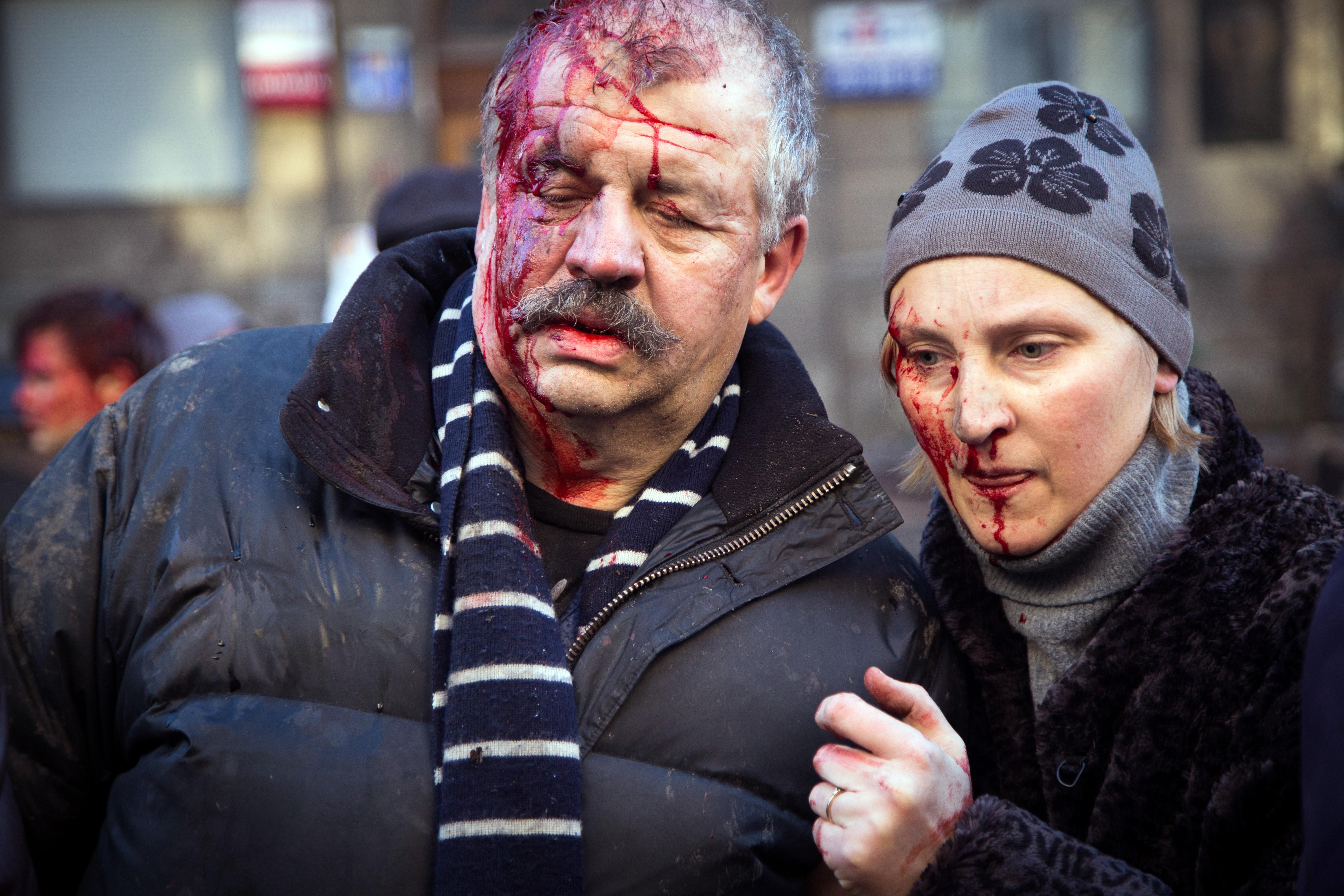 """Вот так при 100% еврейском правительстве славяне на Украине """"умываются кровью""""!"""