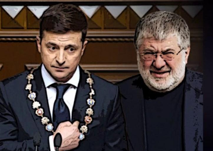 Нынешний президент Украины и Беня Коломойский.