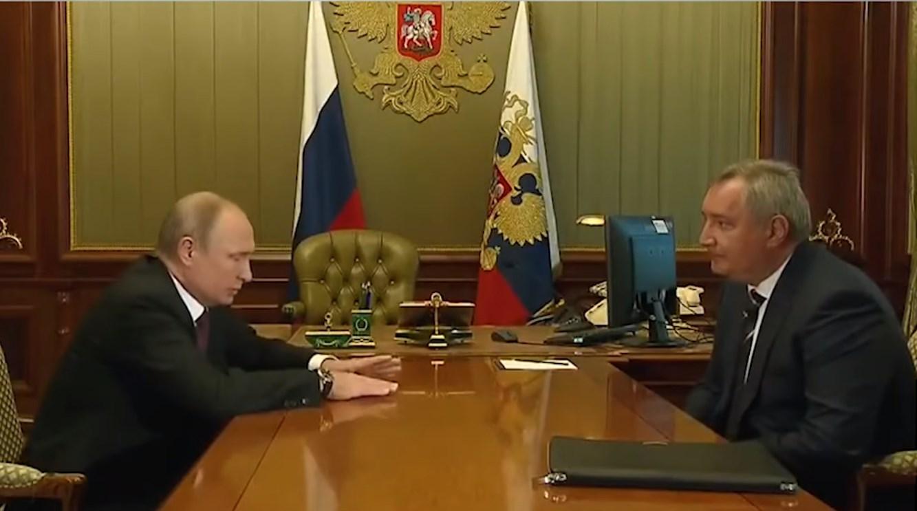 Глава Роскосмоса Д.А.Рогозин на приёме у Президента России В.В.Путина.