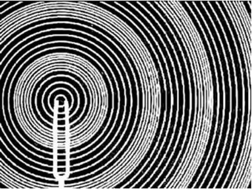 Визуализация звука, порождаемого вибрирующим камертоном.
