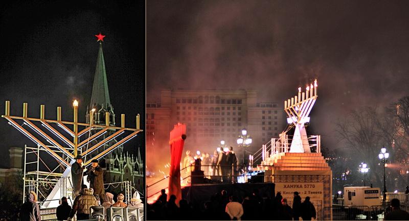 Празднование жидами в Москве у стен нашего Кремля их военной Победы над греками - Хануки.