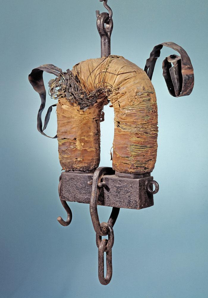 Один из первых электромагнитов большой мощности, созданных Генри.