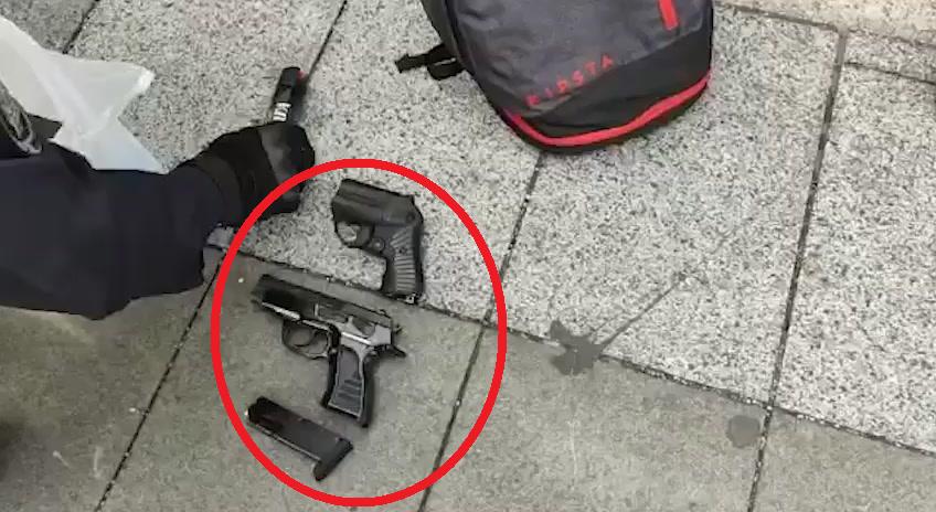 У протестующих нашли оружие