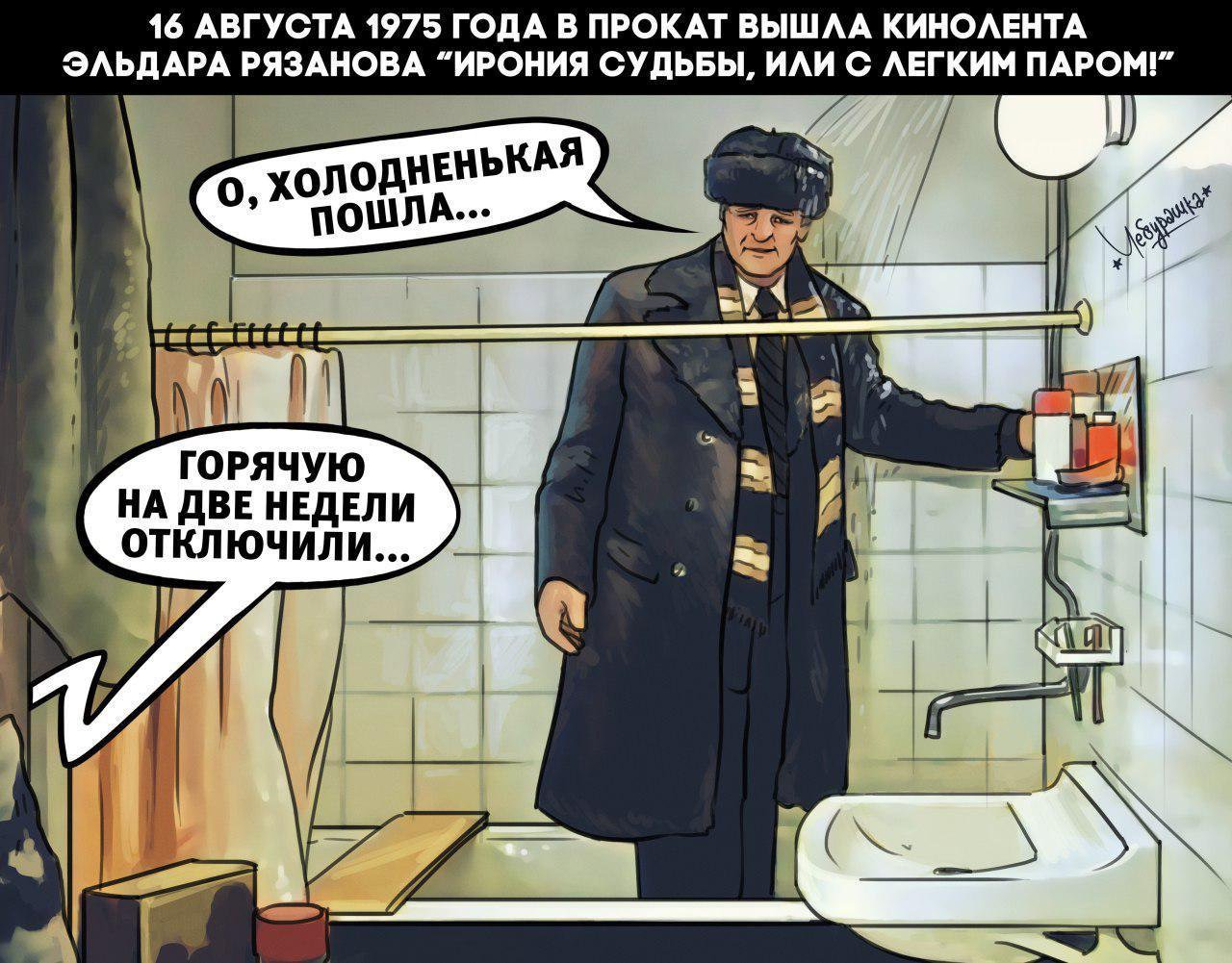 Карикатуры на тему фильма ИРОНИЯ СУДЬБЫ...
