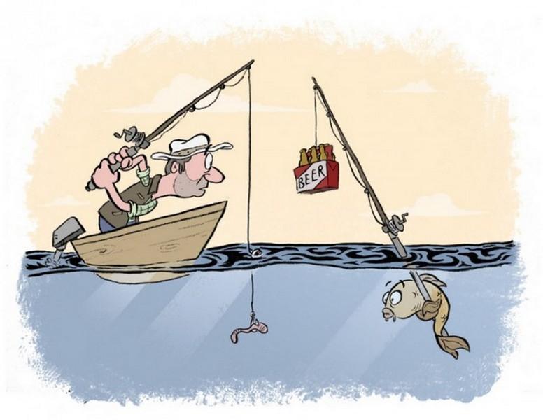 Прикольные рисованные картинки про рыбака, красивые тебя люблю