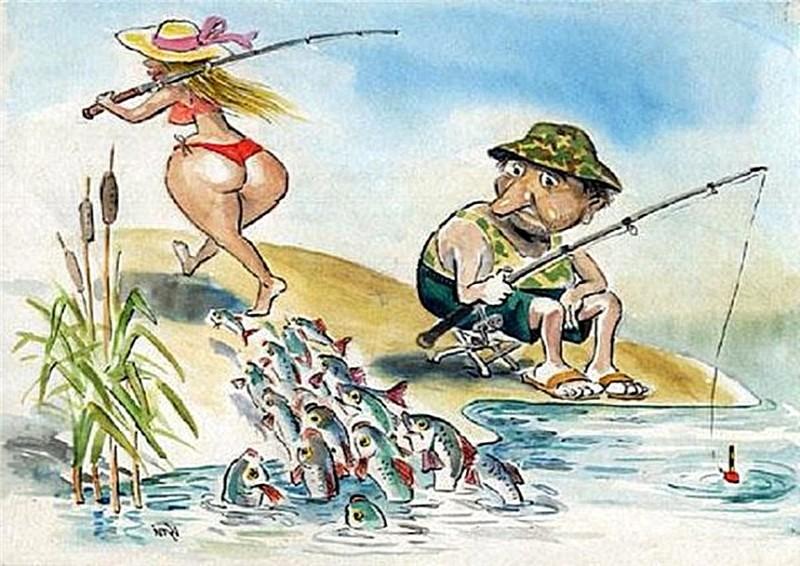 Картинки, картинки прикольными про рыбалку