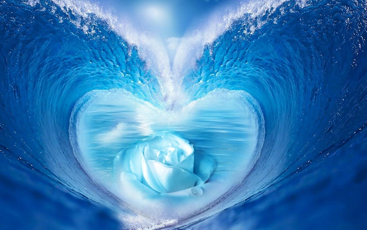 волны сердце картинки дубинкой тяжёлых