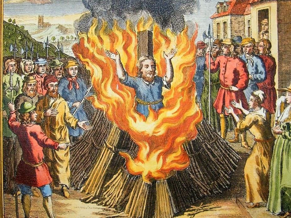 Сожжение Джордано Бруно инквизиторами.