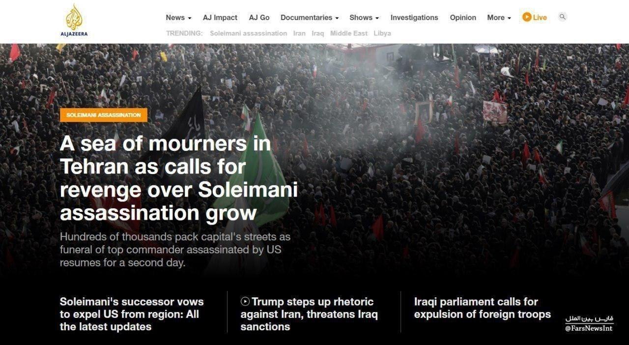 Запад в шоке от похорон генерала Сулеймани: «Бесконечное море людей на улицах» (ФОТО, ВИДЕО) 8