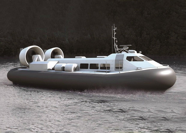 Новое российское судно на воздушной подушке СВП-50 проекта 12270М