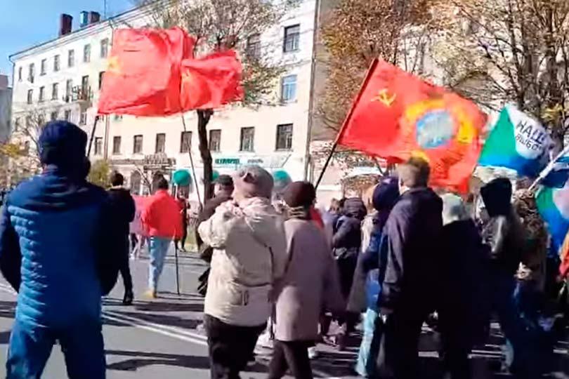 Несанкционированная акция в поддержку Фургала прошла сегодня в Хабаровске