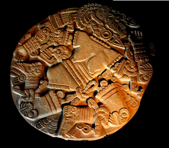 Aztec stone . the killing of the goddess . Now in the Templo Mayor Museum in Mexico City
