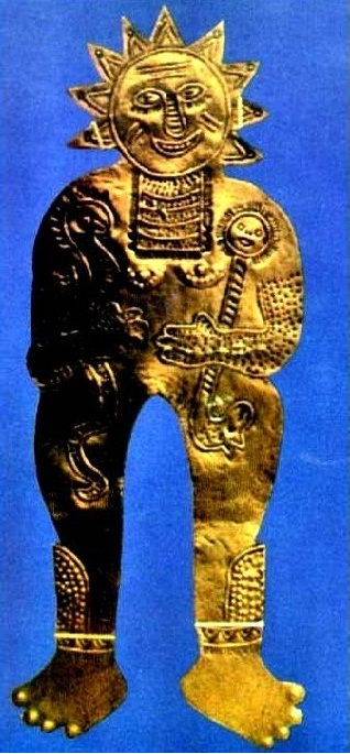 Inca Sun God with four fingers and toes.