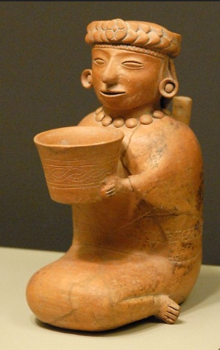 This figurine is very much in the style of Teotihuacan, but is said to have come from Mexico's Gulf Coast region
