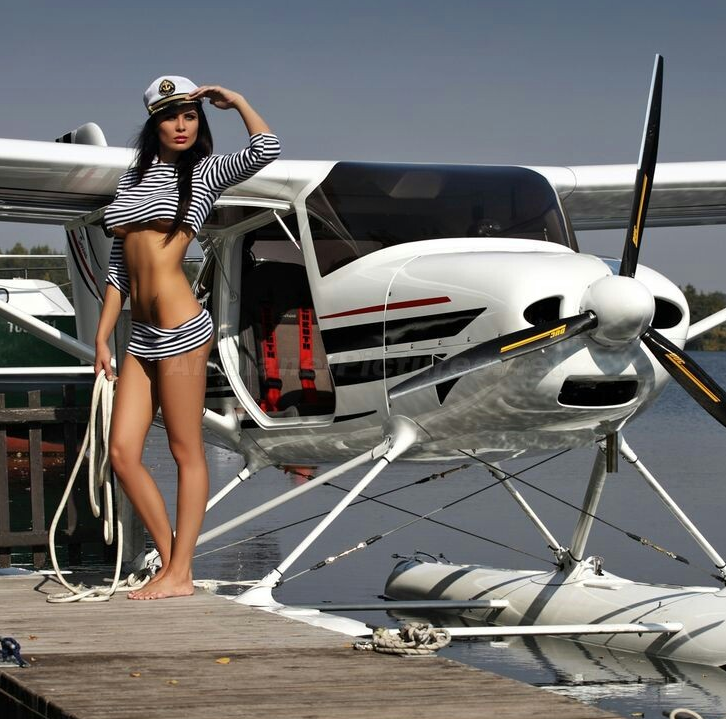 Airplane Naked Woman Picture