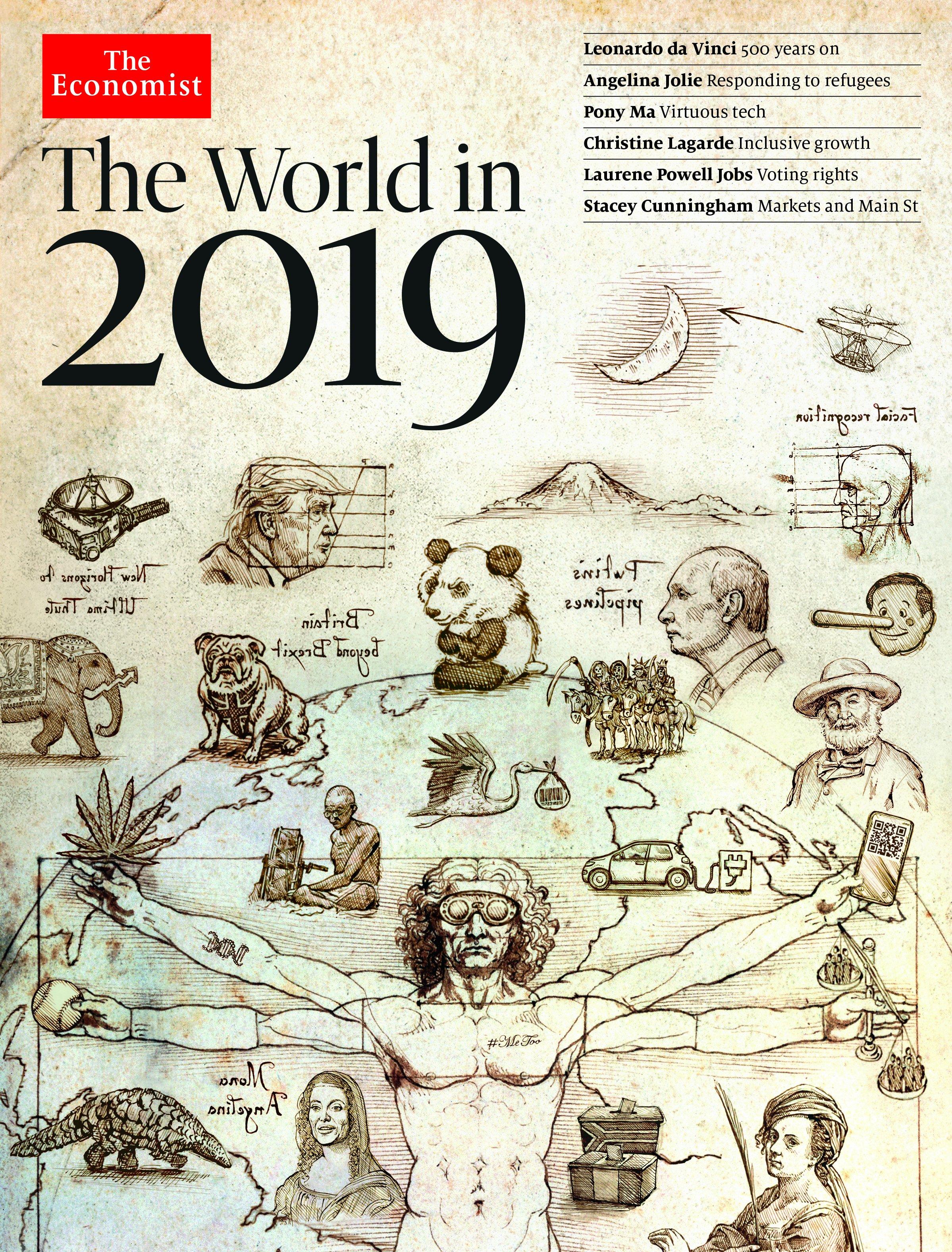 Обложка журнала TheEconomist за 2019 год.