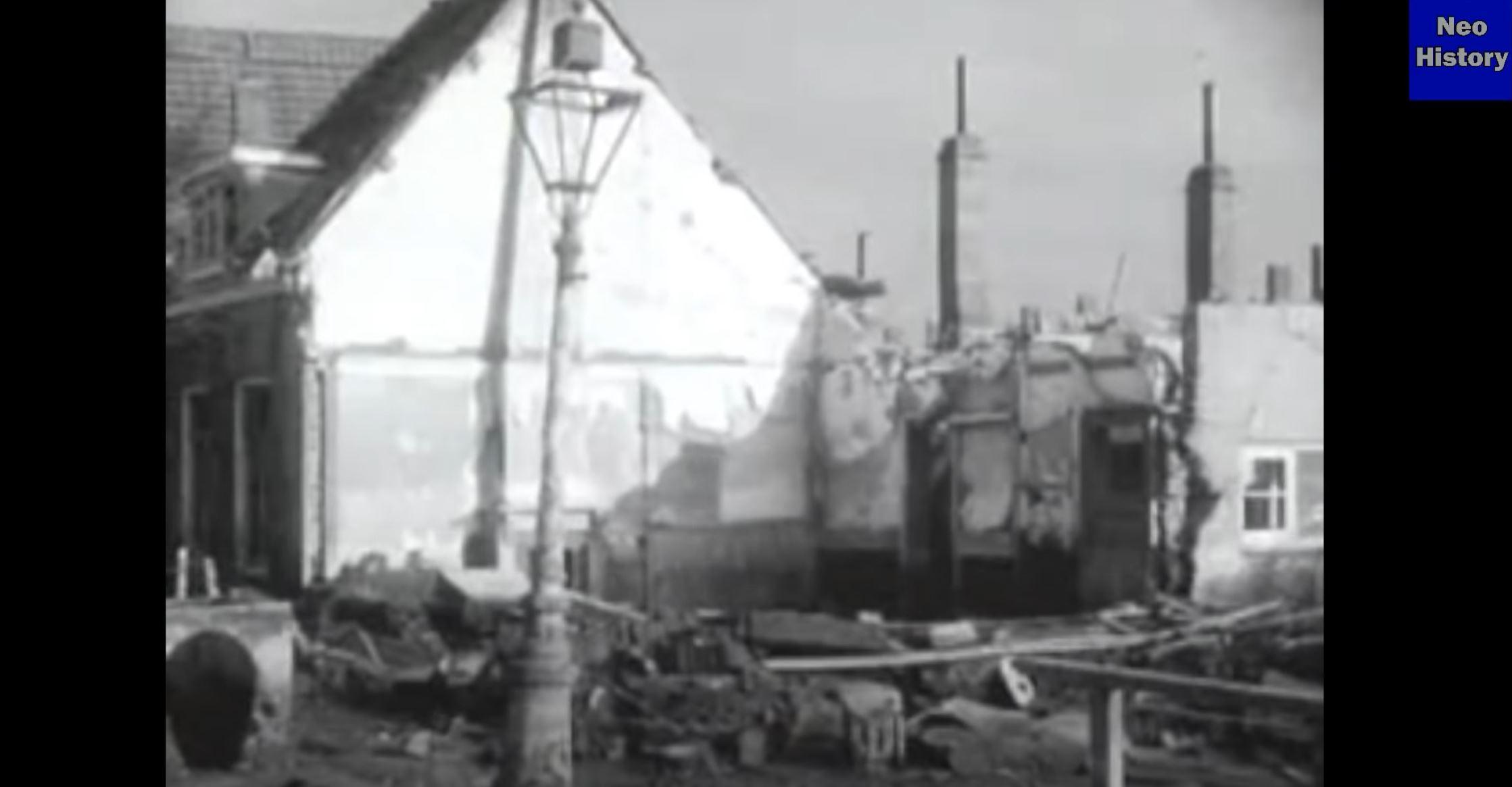 Результат наводнения 1944-го года в городе Валхерен.
