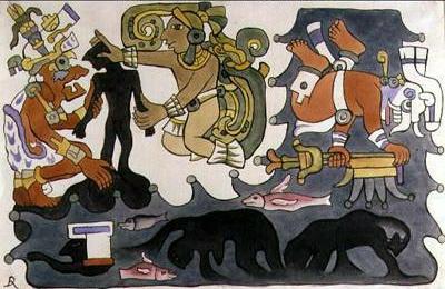 """(Творение людей. Иллюстрация """"Пополь-Вух"""" Диего Ривьеры"""