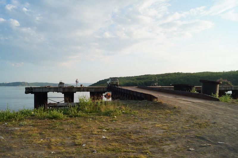 Причал в посёлке Ретинское.