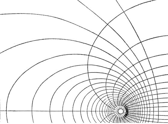 Линии, идущие вдоль «тоннеля», это силовые линии «электрического поля», а кольцевые линии, образующие сам «тоннель», это силовые линии «магнитного поля».