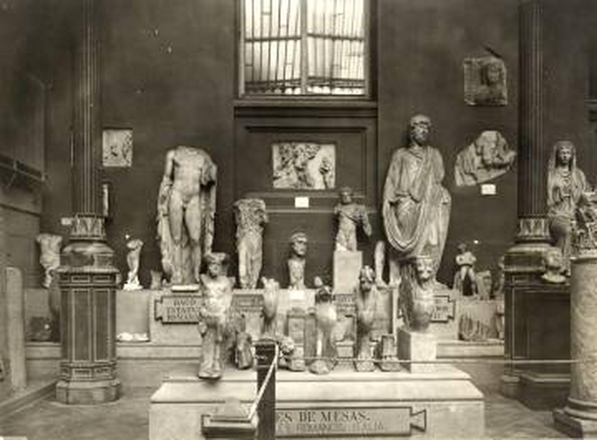 Museo Arqueológico Nacional en una imagen de 1917.