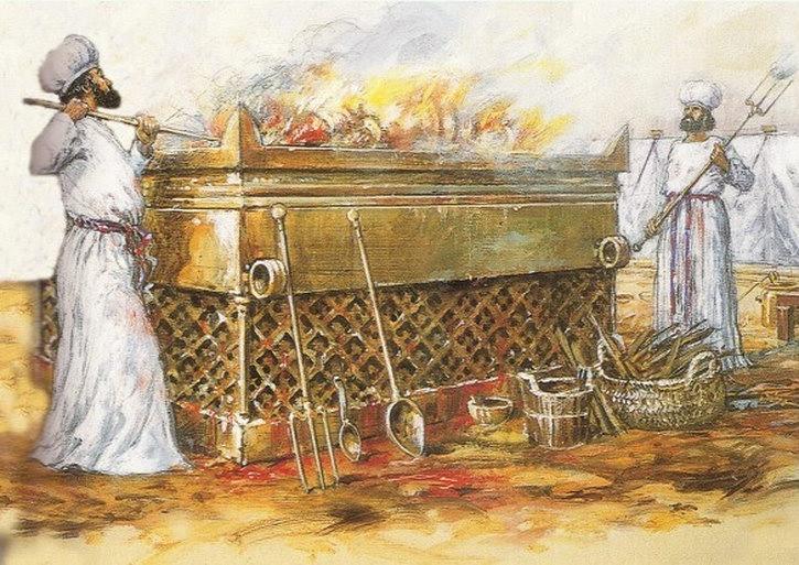 Иудейский ритуал всесожжения (холокост).