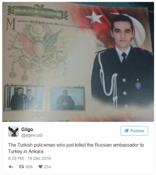 убийца посла РФ в Турции