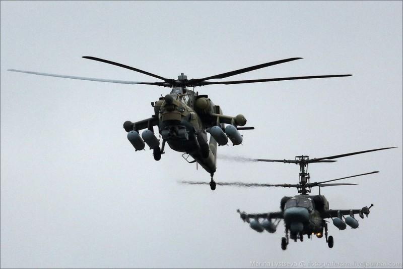 двух вертолётных схем.