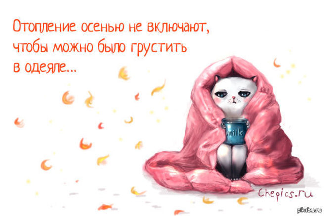 Смешная картинка про холодную осень