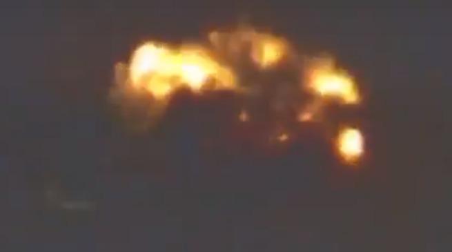Су-34 сожгли объекты террористов в Идлибе