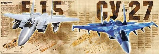 Американские F-15 не смогли справиться с Су-27 на