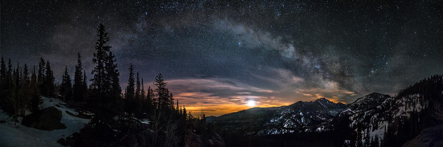 Звездное небо осенью картинки