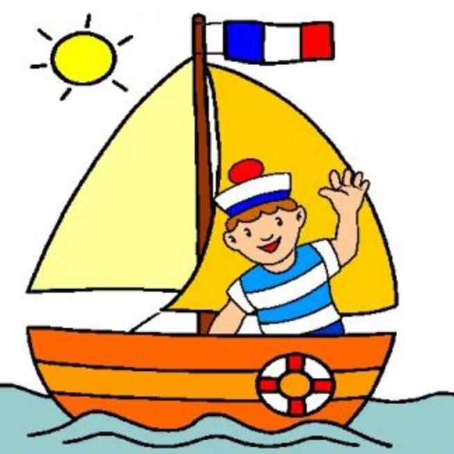 Рисунок плывет кораблик
