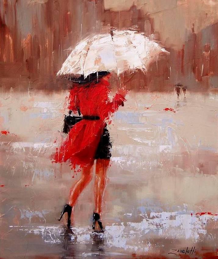 Волк девушка, картинки девушки под дождем под зонтом