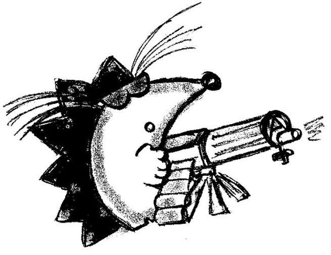 Картинка ежика с оружием