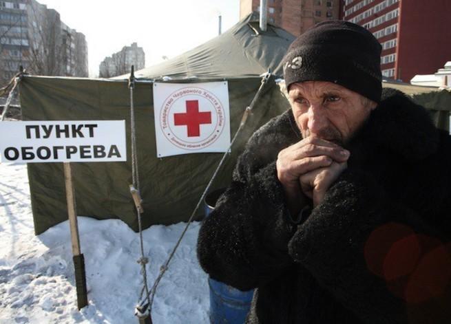 За эту зиму на Украине уже тысячи людей умерли от холода и голода