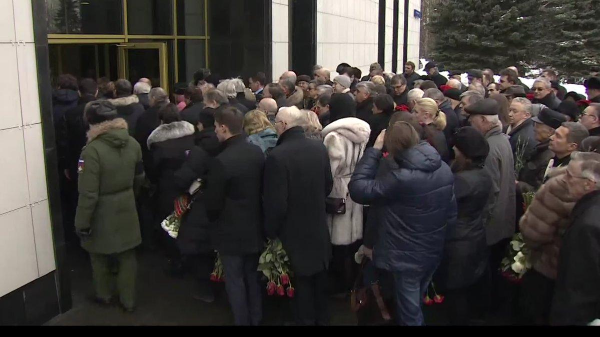 Церемония прощания с Виталием Чуркиным в Москве (прямая трансляция)