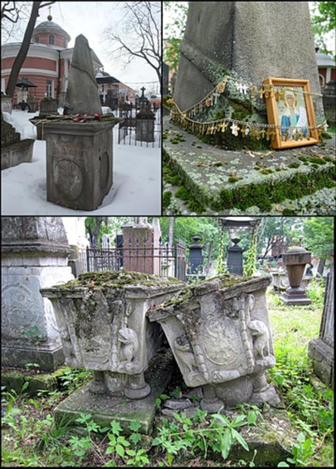 Эконом памятник с резным крестиком в углу Орлов Мемориальный комплекс из двух видов гранитов Михайловск