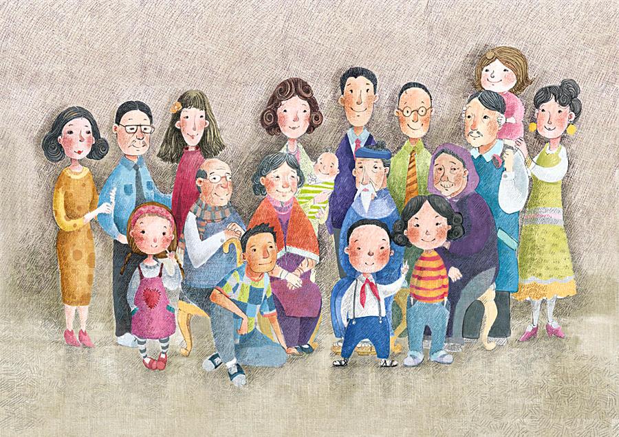 Веселые семейные картинки нарисованные, каникулы рисунок