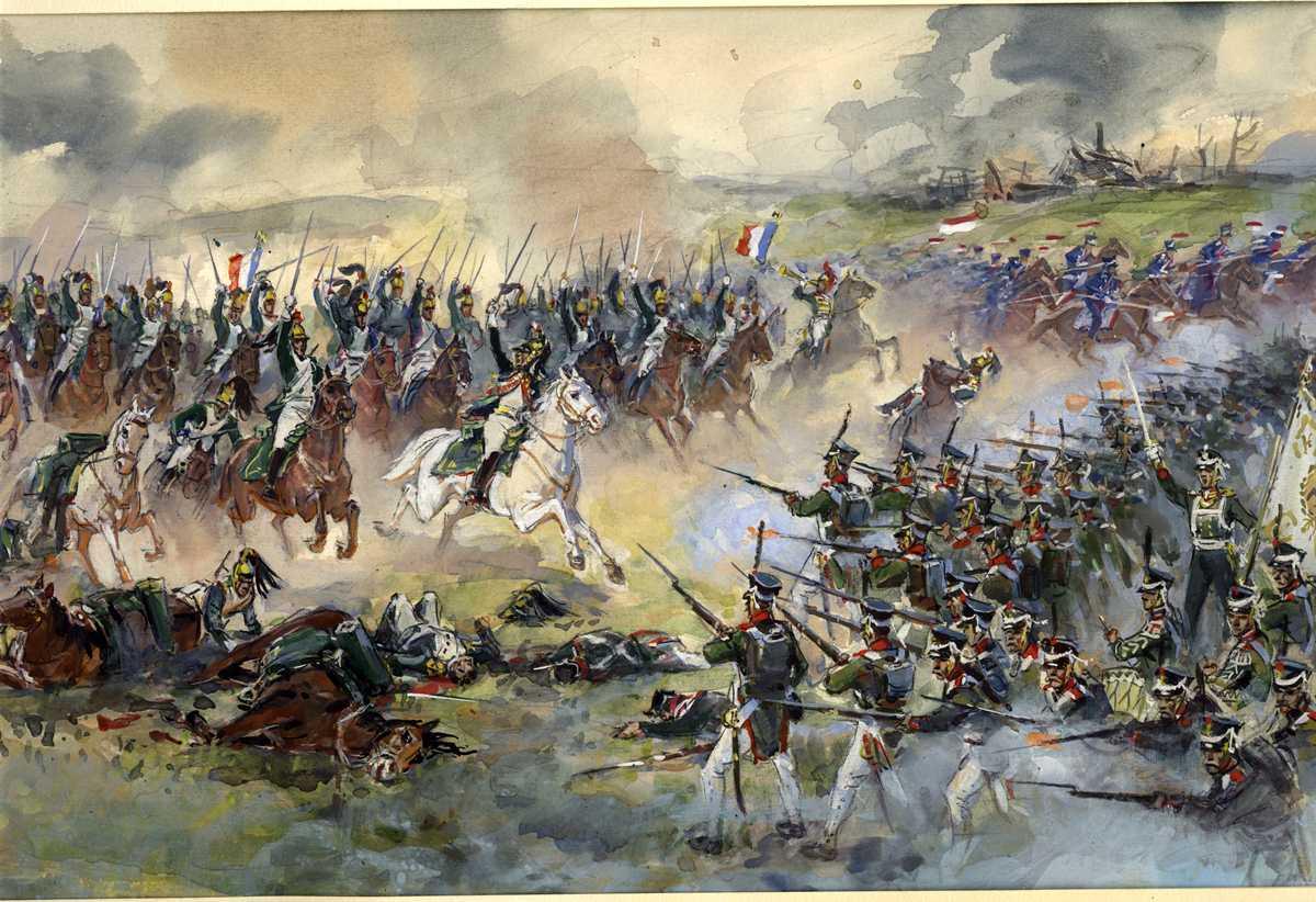 Картинка про бородинское сражение