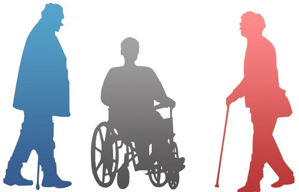 Открытка с инвалидности, влюбленных людей