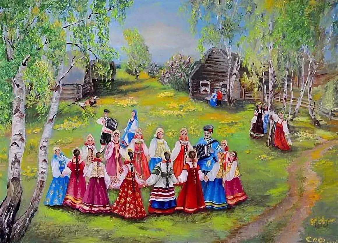 Русские народные гуляния картинки