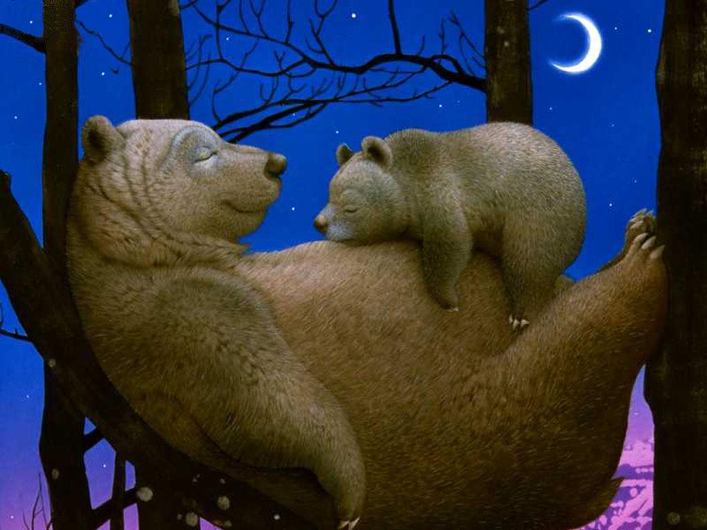 Добрым, анимационные открытки с медведем