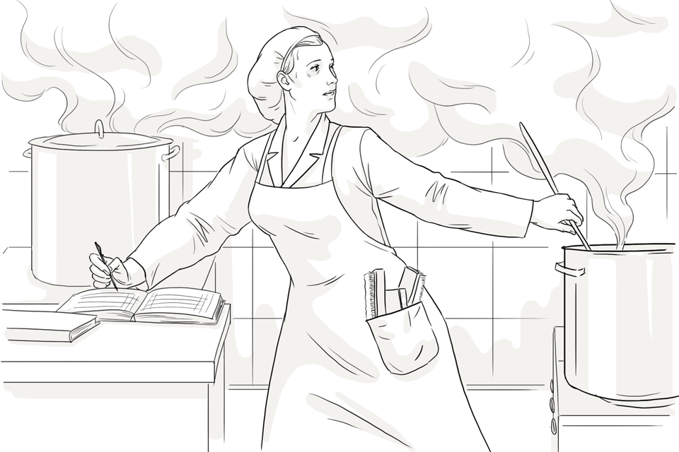 рисунок мама готовит на кухне они