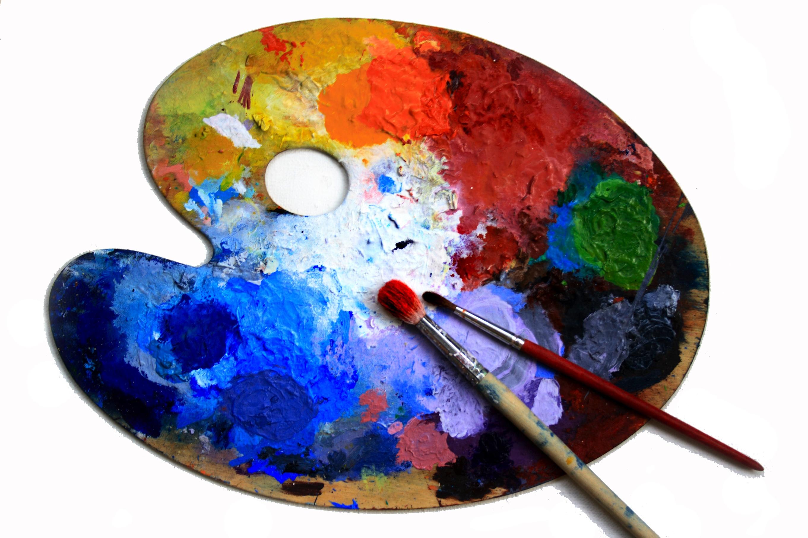 Палитра для художника в картинках