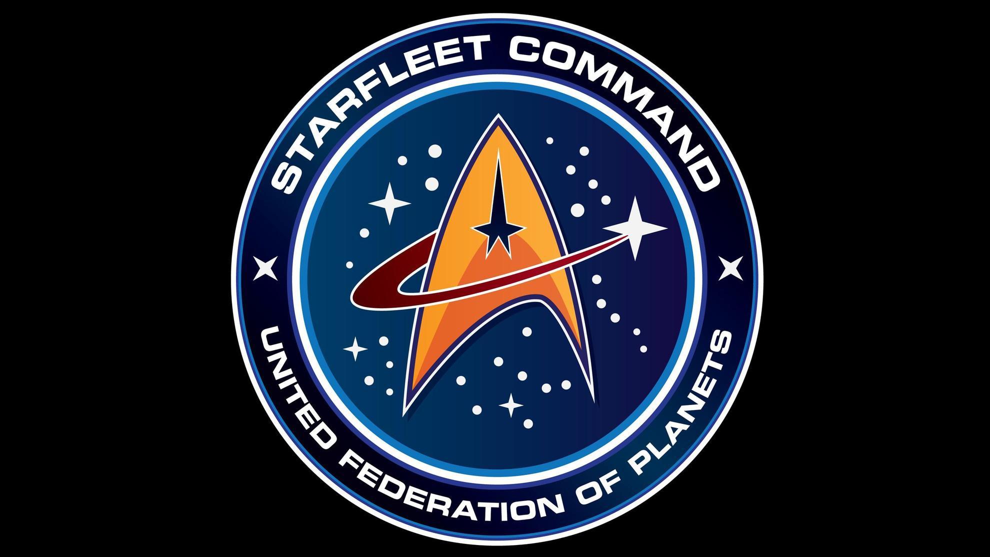 эмблема космических сил Объединённой Федерации Планет из сериала Стартрек